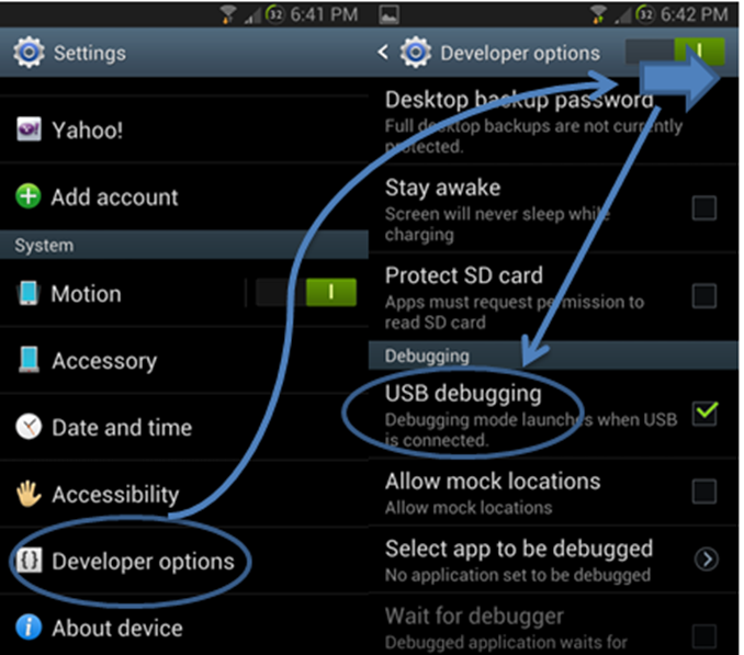 online guide activate usb debugging mode   litecam android