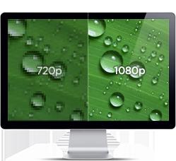 1080p フルHDで高画質録画